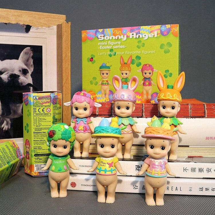 6pcs/lot cute sonny angel easter rabbit kewpie doll figure toy children birthday gift girl friend gift