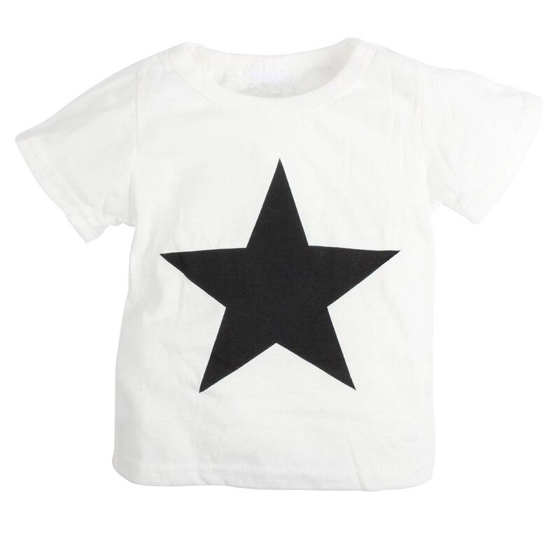 Звезда печатных детские мальчик одежда набор новорожденных хлопка с коротким рукавом футболка + брюки костюм roupa младенческой летний ребенок детская одежда