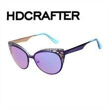 Cat eye sunglasses mujeres primera marca gafas gafas de sol feminino gafas de sol de metal