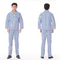 Male Hospital clothing 100% Cotton long sleeved gown dress customized hospital patient suits Mental hospital dressing