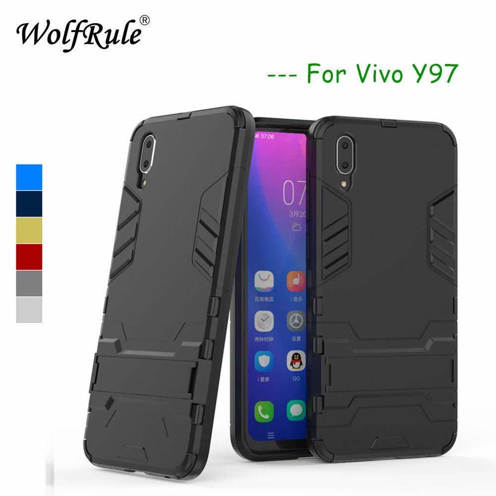 WolfRule Case BBK VIVO Y97 Cover Soft  Rubber + Plastic Kickstand Case For VIVO Y97 Case Phone Shell Vivo Y97 Fundas 6.3