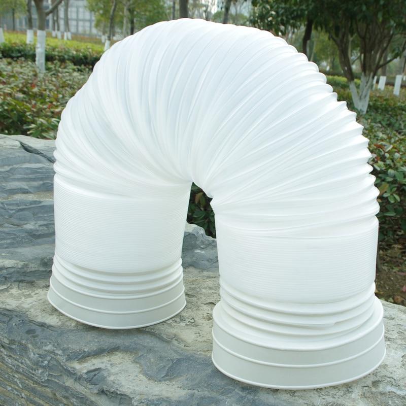 1.5 Meter Flexible Exhaust Hose Tube Mobile Air Conditioner Window Vent Pipe 13cm Diameter Portable Exhaust Hose PVC Tube