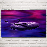 Star Trek Spaceship Blueprints Spaceship Space Nebula Movie Art Silk Poster Print Home Decor Pictures 12x19