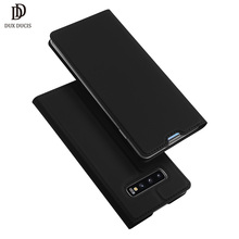 Samsung S10 чехол DUX DUCIS кожа флип чехол для samsung Galaxy S10 чехол плюс бумажник телефон Обложка чехол на самсунг галакси S10 плюс S10Plus S10 E