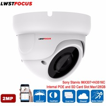 Smart IR Sony Starvis IMX307+Hi3516C FULL HD 1080P ONVIF 2.4 2MP IP Camera Outdoor Waterproof Dome POE SD Card Slot IP Camera