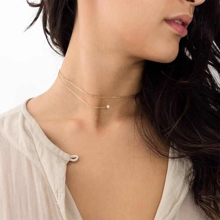 Wielu kobiet chocker łańcuch perła choker naszyjnik biżuteria collana Kolye Bijoux Collares Mujer Collier Femme joyas