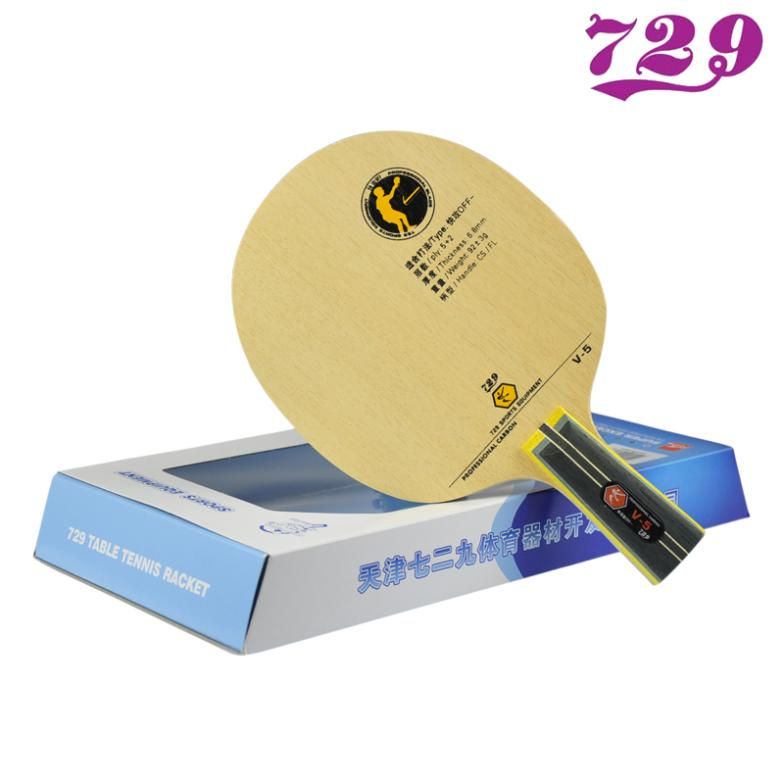 Friendship 729 V5 7 Ply Carbon Table Tennis Blade V-5 Racket Ping Pong Bat Paddle joola rosskopf platinum 5 ply hinoki premium carbon offensive table tennis blade with gift box racket ping pong bat