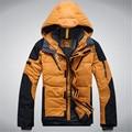 Мужская толщиной вниз пальто зимнее RLX теплый пуховик Мужчины высокого качества Белая утка вниз пальто И Пиджаки куртка Человек