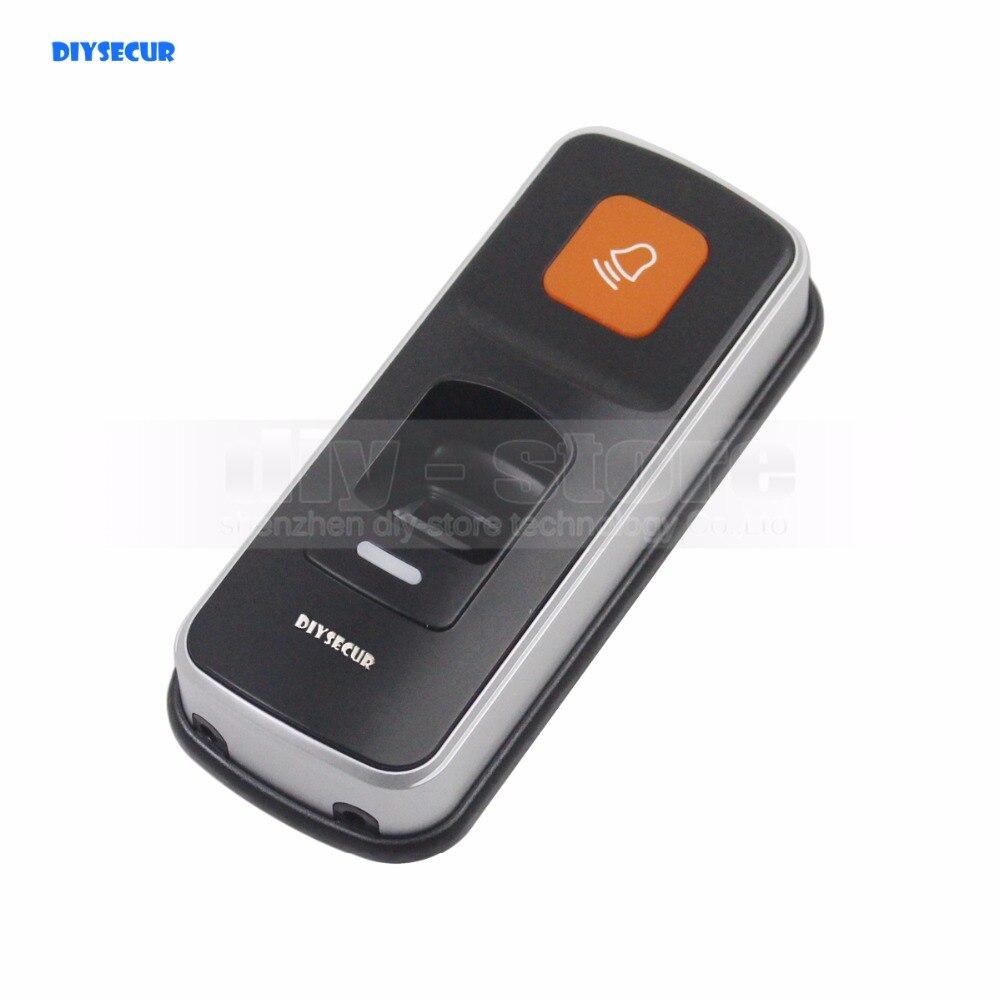 DIYSECUR 1000 utilisateurs d'empreintes digitales 125 KHz lecteur de carte RFID 2 en 1 Kit de contrôleur d'accès de serrure de porte coque en plastique