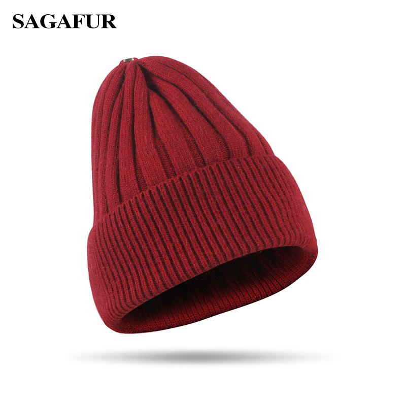 SAGAFUR Outdoor Indoor Caps Women Female Headwear High Quality Fashion Accessory Winter Brand New Beanie Soft And Warm