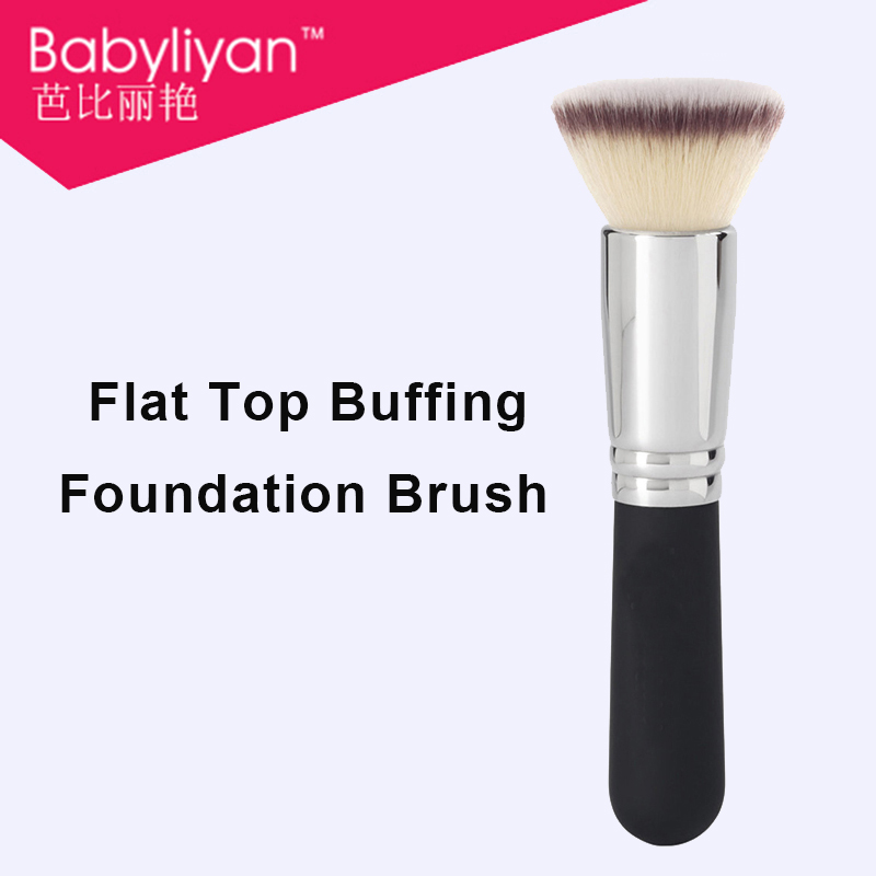 1 PC Flat TopBuffing Foundation Brush liquid BB cream makeup brushes quick air brush with rubber handle