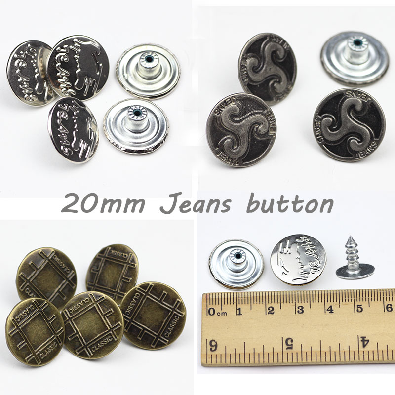 50 sets a package.20mm plastic core jeans. Jeans buttons. copy button. Pants through hole buttons. Metal buckle. color buttons.