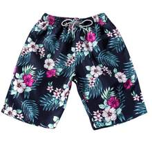 2018 hot sale Plus Size Summer Men Couples Beach Floral Shorts Bohe Swimwear Shorts Trunks Nickel Pants drop shipping Jun 15(China)