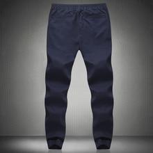 New Fashion Drawstring Men Pants High Quality Cotton Mens Joggers Casual Sweatpants Men's Trousers Size:M~5XL
