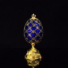 QIFU el sanatları Faberge yumurta güzel küçük kale Metal hediye