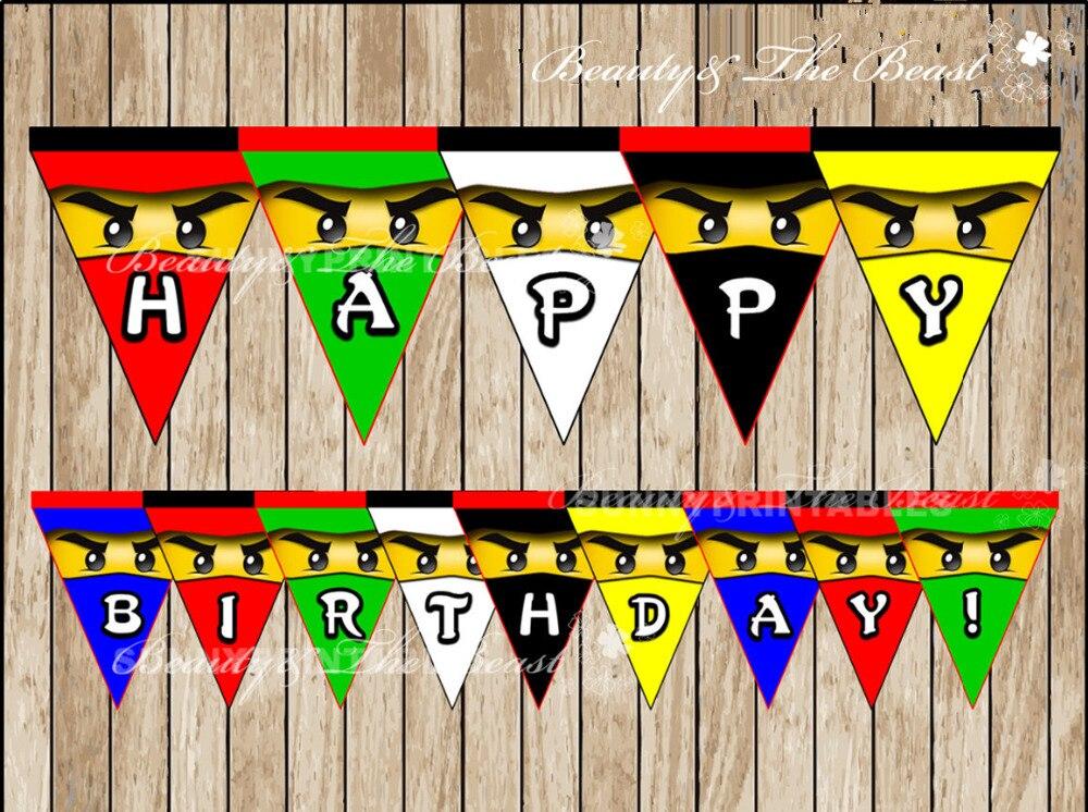 ninjago banner baby shower ninjago birthday party