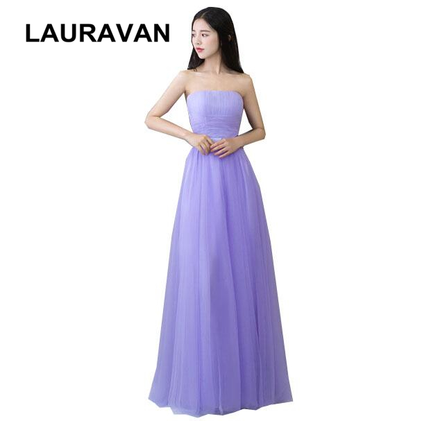 robe style tulle xs size formal strapless girls dress light purple lavender bridesmaid dresses long ball gown for wedding guests
