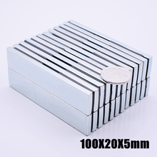 Magnet 1pcs/lot N52 100x20x5 mm hot search magnet Strong magnets Rare Earth Neodymium for crafts wholesale 100*20*5