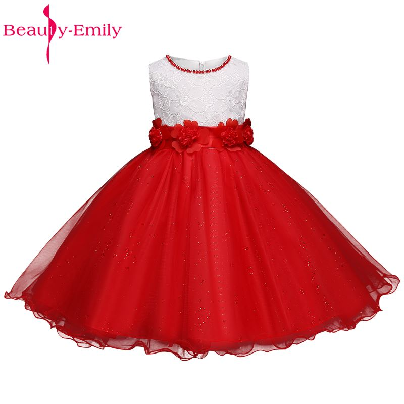 Flower Girl Dress for Wedding Party Lace Children\'s Clothing Fancy ...