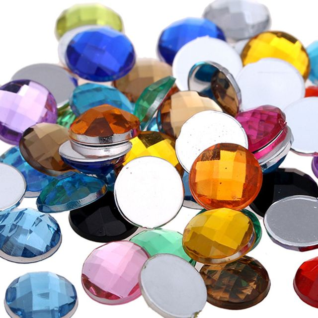Round Earth Facetsd Many Colors And Many Size Acrylic Flatback Craft Art  DIY Gems Rhinestone Strass High Shine Nail Stones cab3919ae536