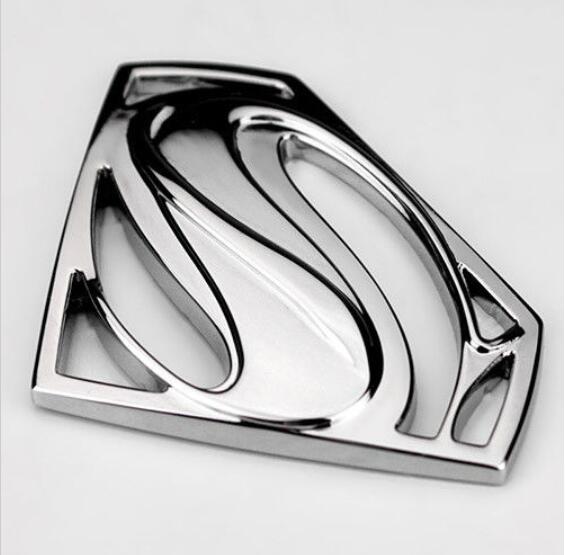 3D Супермен Символ S эмблема значок Металл Chrome Стикеры для автомобиля грузовик Двигатель наклейка