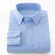 2017 100% cotton Men's Shirts Casual Long Sleeve Male Business Formal Dress Shirts Male Social Dress Shirt Plus MC016