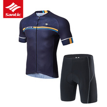 Men Cycling Ropa-Ciclismo Santic Jersey-Set Clothing-Set Short-Sleeve Mountain-Road-Bike