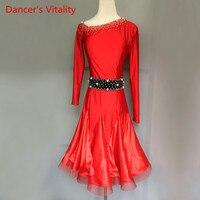 2018 New Kids/Adult Latin Dance Dress Luxury Diamond Women Girls/Lady Ballroom Waltz Tango Dance Dresses Latin Performance Wear