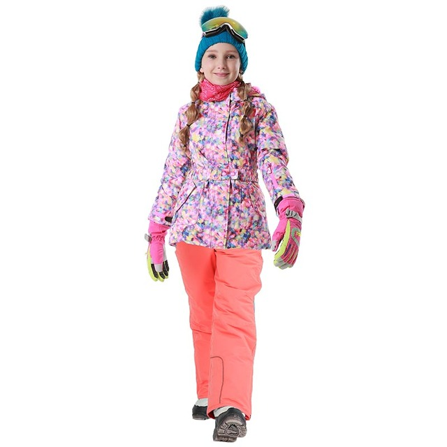 08eca479cfa9 2018 Winter Outdoor Ski Suit Children Clothing Set Windproof Ski ...