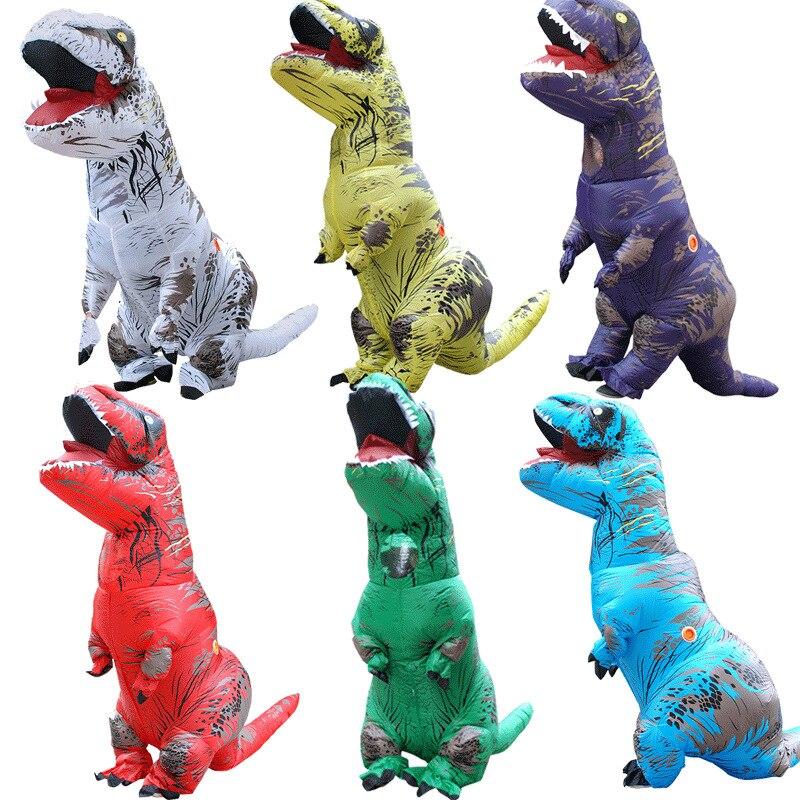 Для хеллоуина и карнавала, kigurumi, комплекты для родителей и детей, надутая одежда, костюм динозавра для рождественской вечеринки, маскарадны