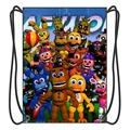 2016 Trend Five Nights at Freddy's Drawstring Backpack School Bags Shoes Bag With 2 String for Boy and Girls