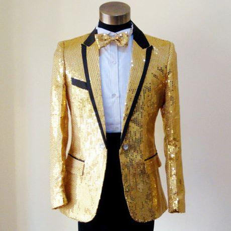 Paillette Male Master Sequins Dresses Stage Costumes Men Terno Suit MC Host Clothing Singer Suits & Blazer Show Jacket Outerwear