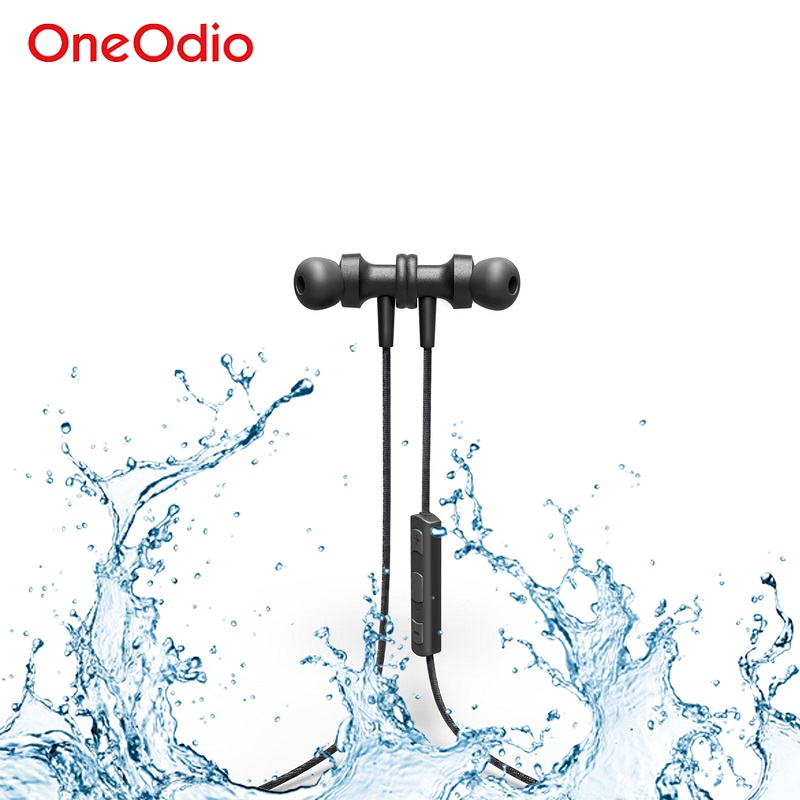 Oneodio Wireless Bluetooth Earphone With Microphone For iPhone Xiaomi Sport Waterproof Stereo 4.1 Bluetooth Headphones Headset oneodio 4 1 bluetooth headphones sport stereo wired wireless headset with microphone mic noise canceling earphone for xiaomi