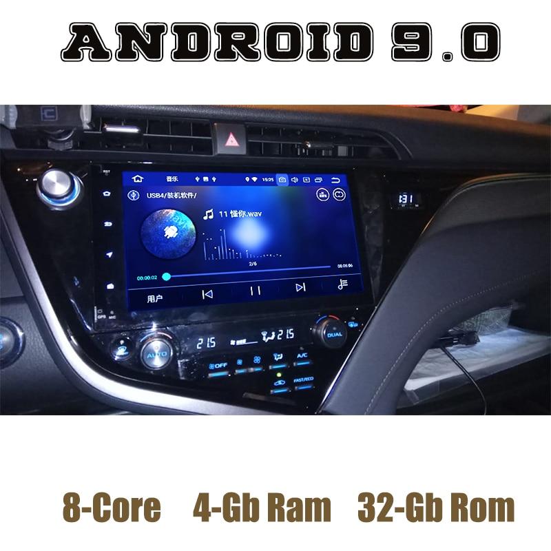 Pour toyota camry 2017 2018 Android 9.0 autoradio lecteur gps avec Octa core PX5 canbus 4G RAM 32G ROM wifi 4g usb auto multimédia