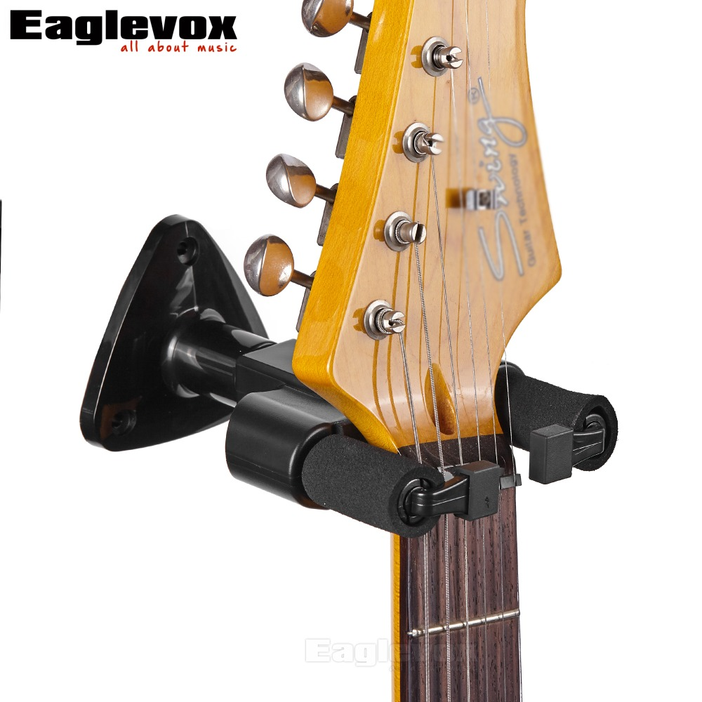 Guitar Hanger Hook Holder Wall Mount Stand Rack Bracket Display For All Size Guitars Bass 49 golf ball display case cabinet holder rack w uv protection