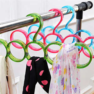 Image 5 - New listing Creative Storage Rack Scarf Hanger 5 Hole Storage Rack Multifunction Removable Tie Clothes Belt Shelf