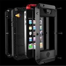 Водонепроницаемый ударопрочный телефон чехлы для iphone7 7 P 6 6S 5 5S 5SE 4S металла алюминиевая двойной защиты прочный Чехол Крышка + закаленное стекло