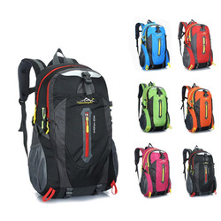 2018 New Style 40L Outdoor Hiking Camping Rucksack Waterproof Polyester Travel Luggage Rucksack 6 Color Hiking Outdoor Backpacks