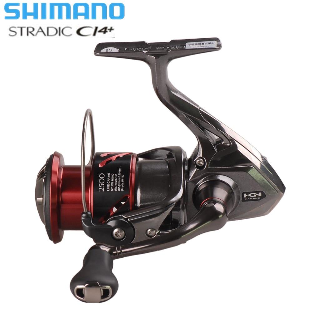 Original Shimano STRADIC CI4 FB1000 1000HG 2500HG C3000HG Hagane Gear X-Navio Saltwater Spinning Reel Fishing Carp Carretel de Água Salgada
