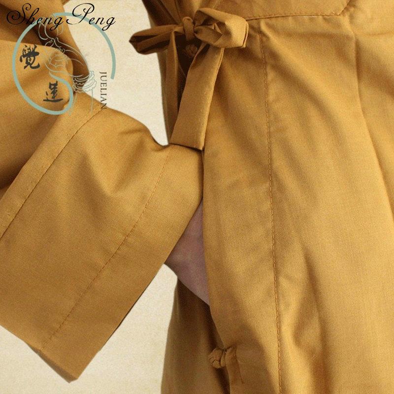 僧侶のローブ中国少林寺モンクローブ男性伝統的な僧侶服制服少林寺の僧の服 Q272
