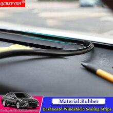 QCBXYYXH автомобильный-Стайлинг резиновый Анти-шум звукоизолированный Пылезащитный автомобиль приборная панель лобовое стекло уплотнительные полосы для Toyota Camry 2012-2018