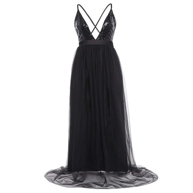 9370813caab9 2018 elegant summer dress women Sleeveless lace sequined long dress plus  size pleated pink black party