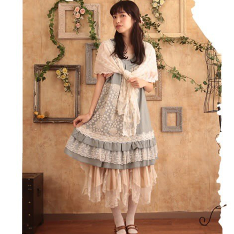 Forest Mori Girl 2016 Women Floral Pattern Embroider Classic Lace