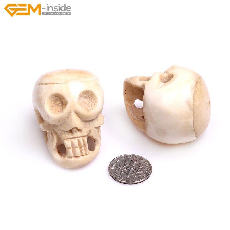 Halloween Carved Bone Skull Jewelry Making Decoration Large Beads Bulk Innovatis Suisse Ch