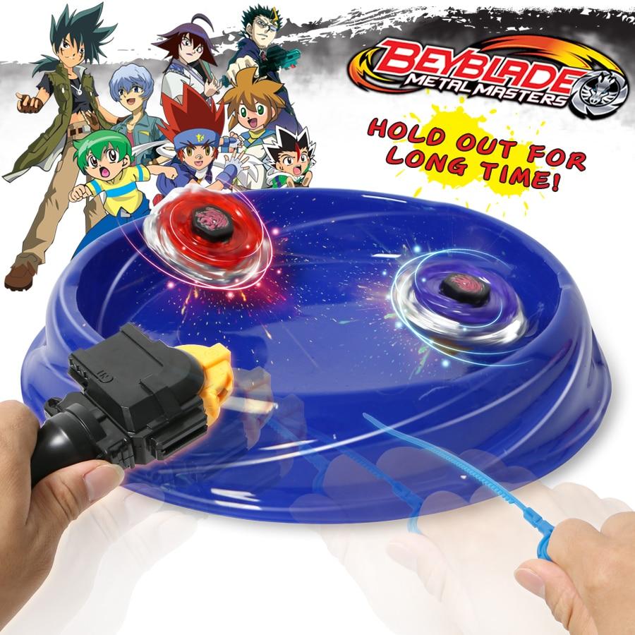Metal masters assemely luchando cuchillas juego Beyblade Metal de fusión superior Starter Set con lanzadores y Arena juguete clásico