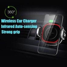 Glonice беспроводное 10 Вт автомобильное зарядное устройство Быстрая зарядка вентиляционное отверстие с тепловым датчиком, автоматический держатель для iphone Xiaomi samsung huawei