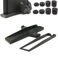Per PS4 Sottile e PS4 Controller Console Supporto Verticale di Raffreddamento supporto di Archiviazione Doppia Ventola di Raffreddamento del Caricatore Docking Station w/USB HUB