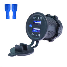 Voltage Waterproof Socket Adapter Accessories Dual USB Durable Charger Power Outlet Navigation Digital Display Car Motorcycle