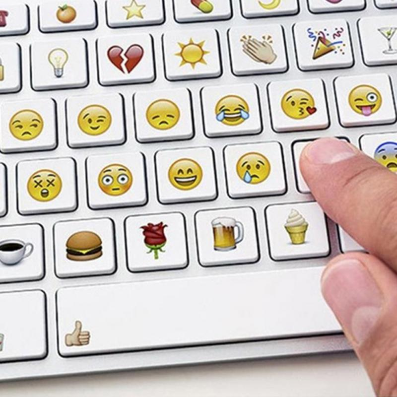 19 sheet sticker 912 Emoji stickers Smile face stickers for Computer Laptop keyboard, funny sticker toy