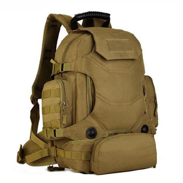 Для мужчин сумки 40 литров нейлон износостойкий рюкзак армии в сочетании Многофункциональный поясные сумки Дорожная сумка Классическая мода сумка